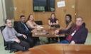 Chefe do legislativo, vereador e demais servidores participam de audiência junto ao TCU.