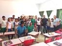 Presidente da câmara municipal de Querência vereador professor Neiriberto participa de palestras no assentamento Brasil Novo.