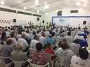 Vereador Celso da Retifica e Domingos Roberti participam da abertura de Conferência do Idoso em Querência.