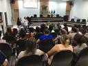 Vereador Domingos Roberti participa de palestra de conscientização contra Violência Doméstica e Familiar.