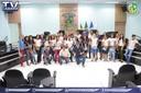 Vereadores recebem alunos da escola 19 de dezembro.